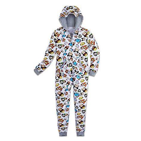 Pajamas Big Tsum minnie mouse and friends tsum tsum hooded pajamas for