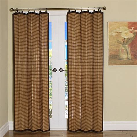 bamboo panel curtains easy glide all natural bamboo ring top window curtain