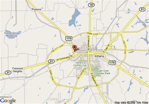 map of athens texas map of 8 motel athens athens