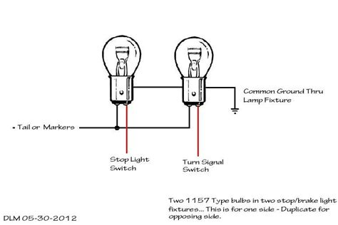 light bulb socket wiring diagram circuit two 1157 bulb and stop l socket wiring