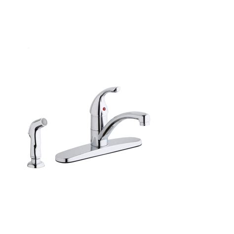 elkay kitchen faucets elkay everyday single handle standard kitchen faucet with escutcheon and side spray in chrome