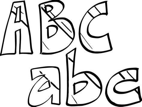 small alphabet coloring pages alphabet small and big abc coloring page wecoloringpage