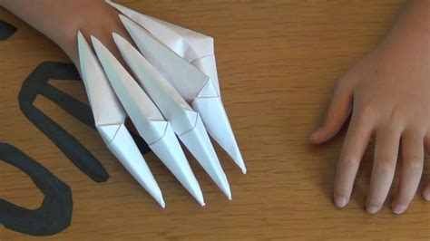 How To Make Origami Claws - how to make paper claws easy