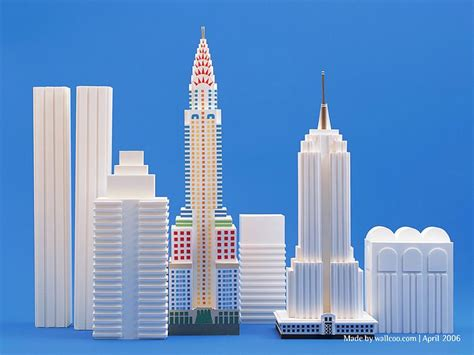 architecture model galleries famous architecture buildings paper models of new york landmarks empire state building