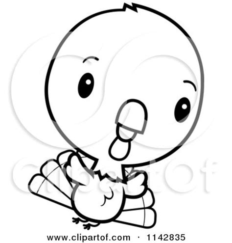 baby turkey coloring page cartoon clipart of a black and white cute baby turkey bird