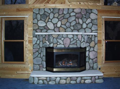 river rock fireplace surround give a makeover to your house with a river rock fireplace