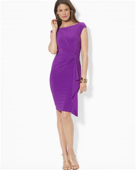 Lawren Dress lyst by ralph cap sleeve cascade dress