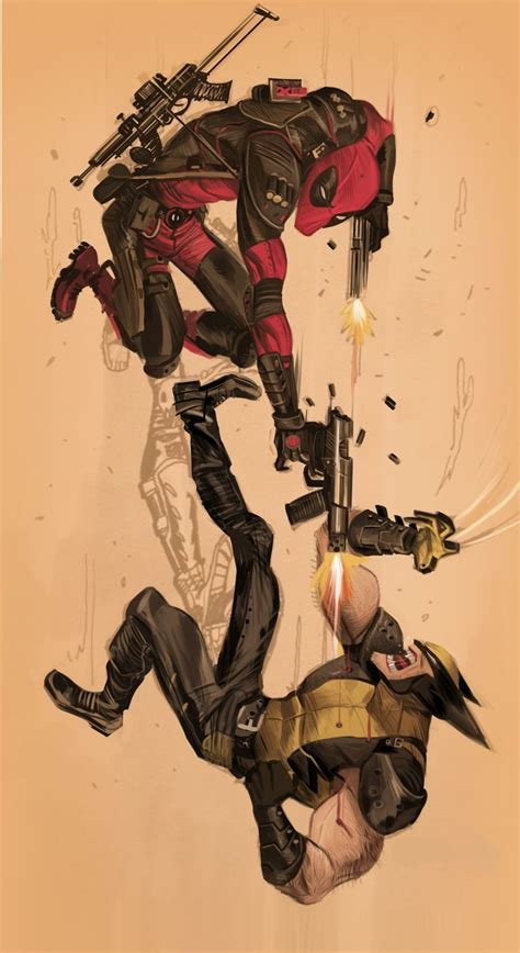 wolverine deadpool deadpool fan deadpool vs wolverine by dan mora