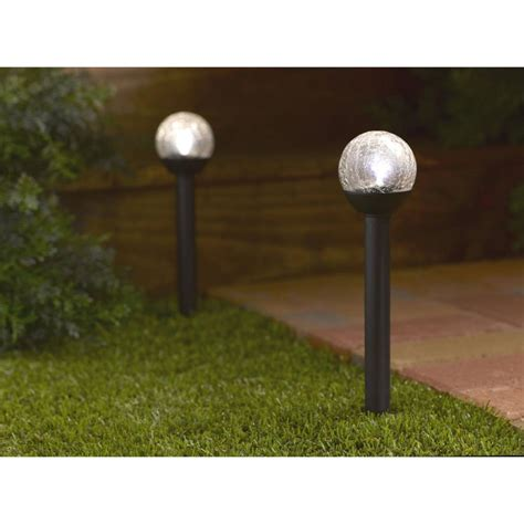 25cm globe light large white solar crackle glass for