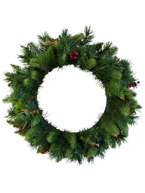 twist plain needle wreath 58cm garlands wreaths