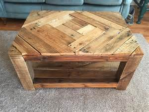 Rustic Pallet Coffee Table Rustic Wood Pallet Coffee Table With Pattern 101 Pallets