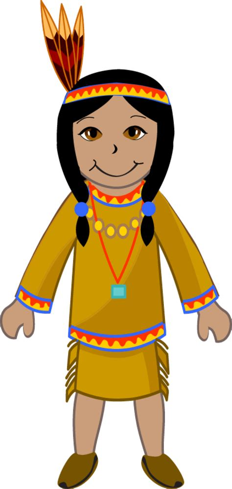 indian real girl in black transparent native american clothing clip art 33