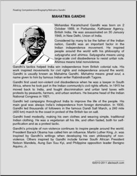 mahatma gandhi short biography video biography mahatma gandhi upper elem middle abcteach