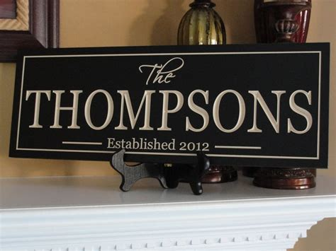Handmade Family Name Signs - personalized family name signs custom wooden signs last