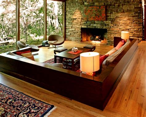 living room interior design   natural stone