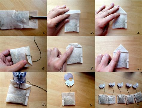 Paper Look With Tea Bags - make your own tea bags friendly nettle