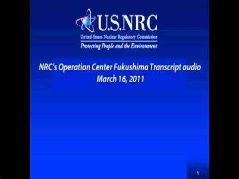Detox Center Iol by Nrc S Operation Center Fukushima Transcript Audio
