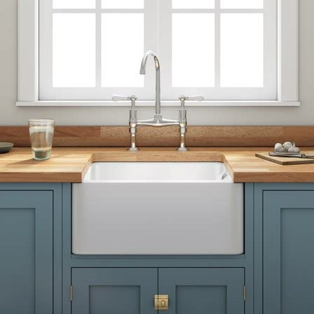 Butler Rose Ceramic Fireclay Belfast Kitchen Sink With Belfast Kitchen Sinks