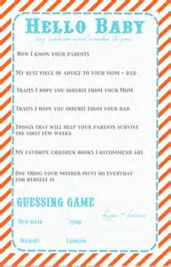 baby shower question baby shower questionnaire baby liggett