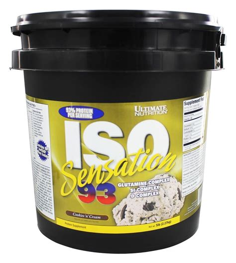 Ultimate Nutrition Iso Sensation 93 5lbs Supplemen Fitness T3010 5 buy ultimate nutrition iso sensation 93 cookies n
