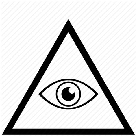 illuminati triangle eye border eye frame illuminati triangle icon icon