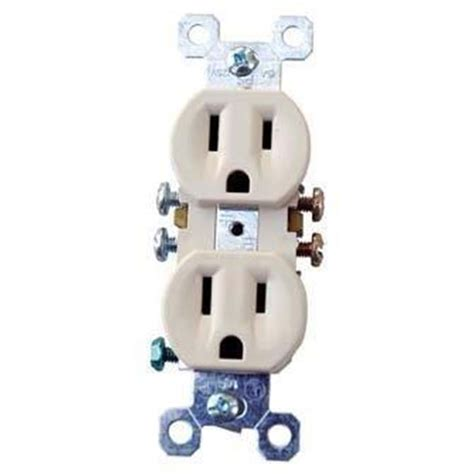 receptacle duplex electric 120v 15 hog slat