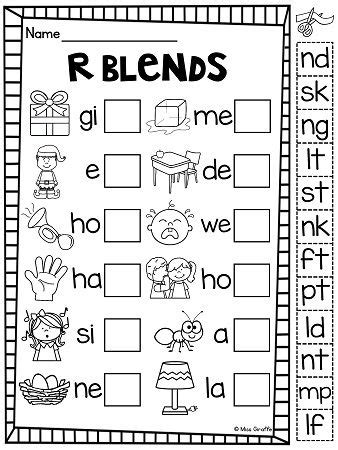 Ending Blends Worksheets and Activities   Blends