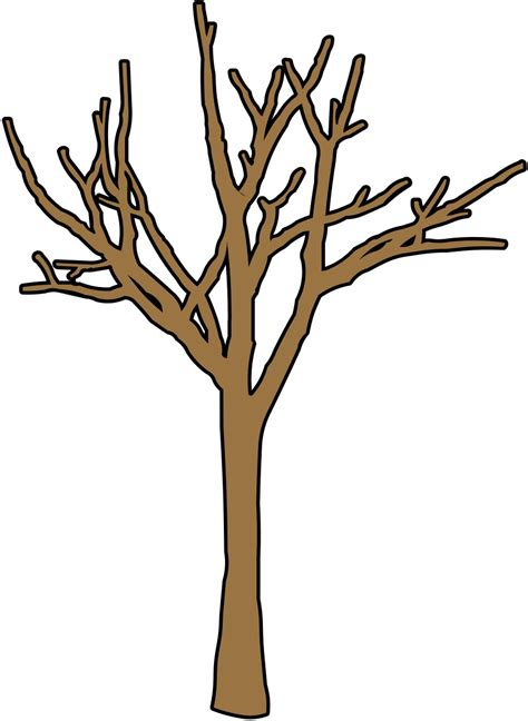 Brown Tree Clip by Bare Brown Tree Clipart Best