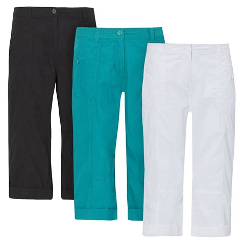 Cotton Cropped Trousers womens trousers shorts cropped cotton 3
