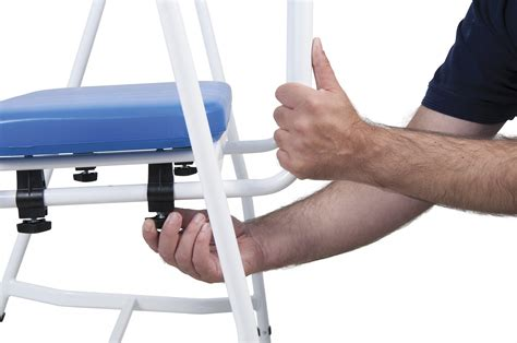 m161 mediatric perching stool with arms padded back