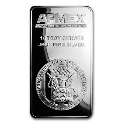 10 Ounce Silver Bar For Sale by 10 Oz Silver Bar Apmex