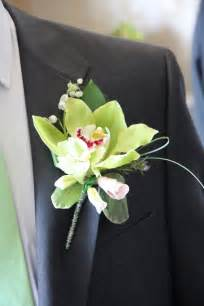 orchid boutonniere flower design buttonhole corsage groom s green orchid boutonniere