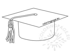 graduation coloring pages high school graduation hat cap line coloring page