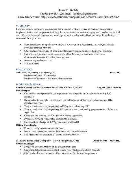 Email Format Of Kohls   jean kohls resume 2015