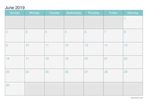 june  printable calendar icalendarsnet