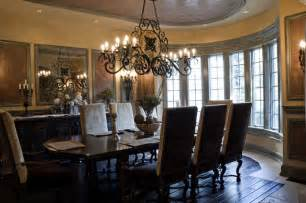 Dining room decorating in mediterranean style using buffet