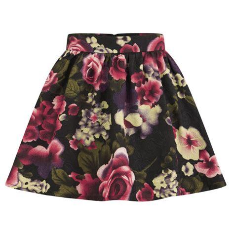 on s floral skater skirt pink womens