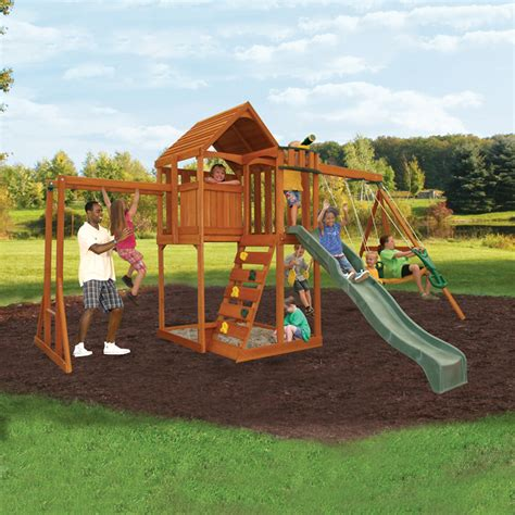 backyard playground set big backyard f23250 lancaster play set atg stores