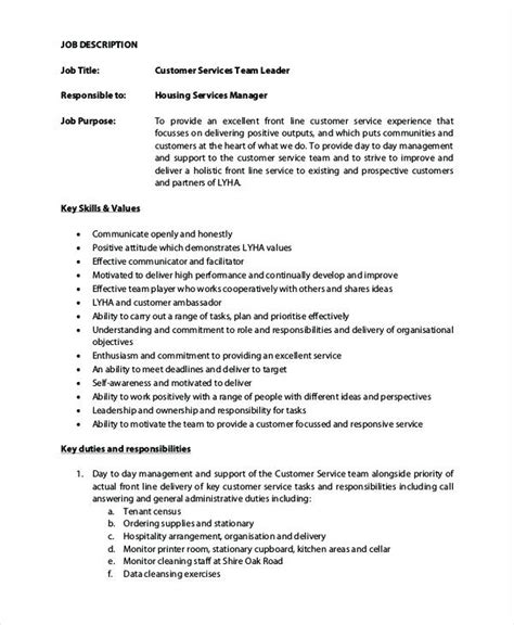 Team Leader Description For Resume by Resume For Team Leader Position Call Center Resume