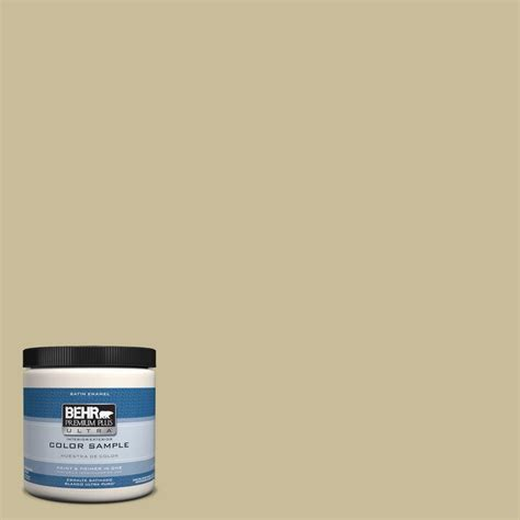 behr premium plus ultra 8 oz ppu8 9 tea bag interior exterior satin enamel paint sle