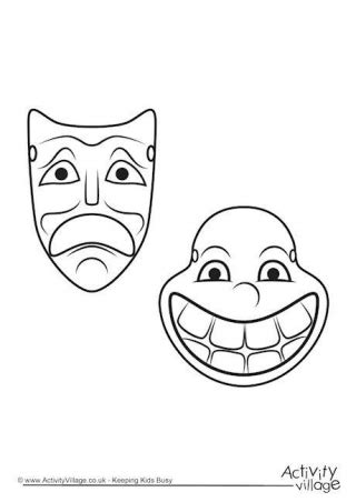 ancient mask template ancient mask template printable drama mask drawing