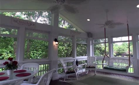 Enclosed Patio Designs Screened Porch Addition With Windows To Keep Out Pollen