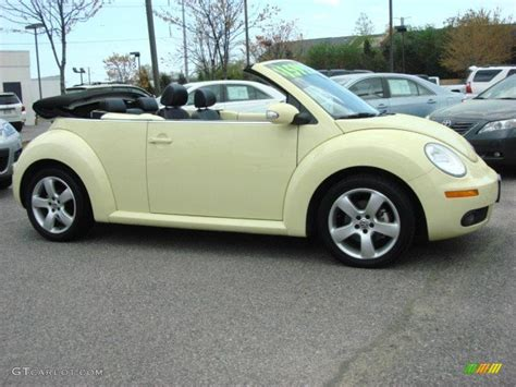 convertible volkswagen 2006 volkswagen beetle yellow convertible