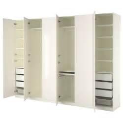 ikea pax kleiderschrank anleitung pax wardrobe white fardal high gloss white 300x60x236 cm