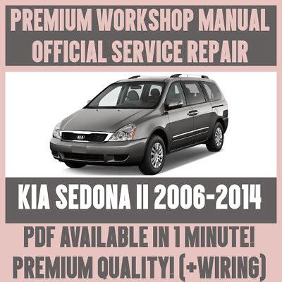 Workshop Manual Service Amp Repair Guide For Kia Sedona Ii