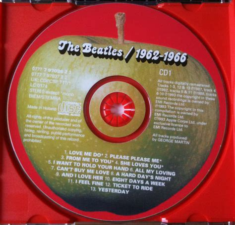 dvd format video songs the beatles 1962 1966 cd at discogs