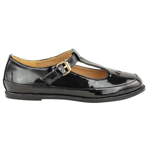 t flat shoes womens cut out t bar school office work