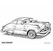 Kleurplaat Cars Hudson 8022  Kleurplaten