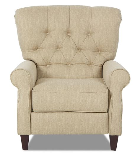 Recliners And Back by Klaussner Strand Traditional Power High Leg Recliner With Tufted Back Olinde S Furniture