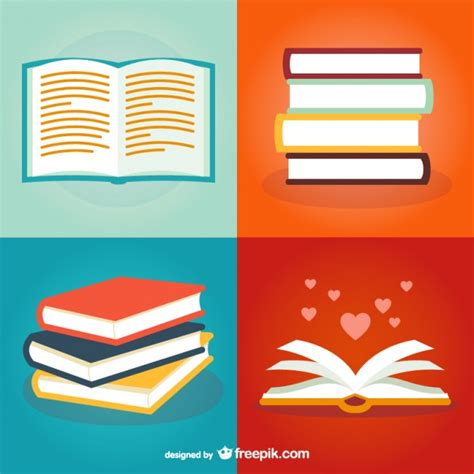 book illustrations pack vector free